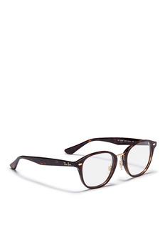 Ray-Ban'RB5355F' metal bridge tortoiseshell acetate optical glasses