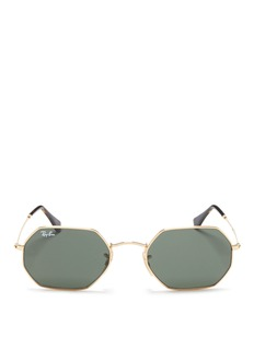 Ray-Ban 'RB3556N' metal flat octagonal sunglasses