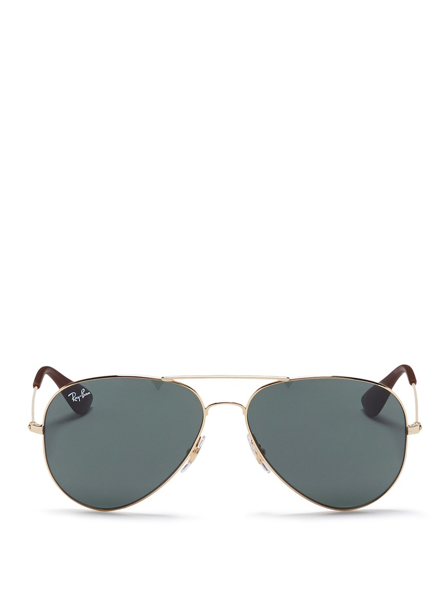 rayban female rb3558 rubber tip aviator sunglasses