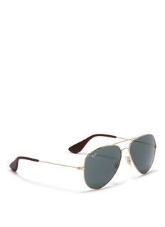 Ray-Ban 'RB3558' rubber tip aviator sunglasses