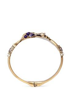 Alexander McQueenPegasus mushroom glass crystal faux pearl bracelet