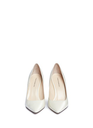 Front View - Click To Enlarge - Fabio Rusconi - 'Esca' chunky heel leather pumps