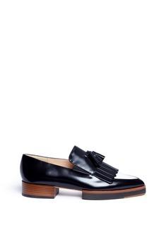 Fabio RusconiTassel colourblock leather kiltie loafers