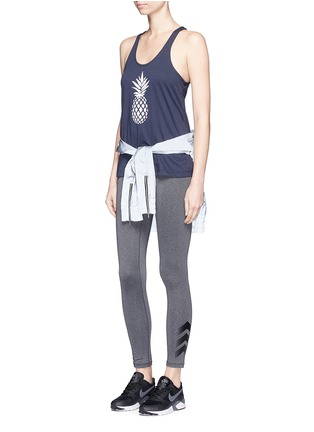 Figure View - Click To Enlarge - The Upside - Pineapple print performance tank top