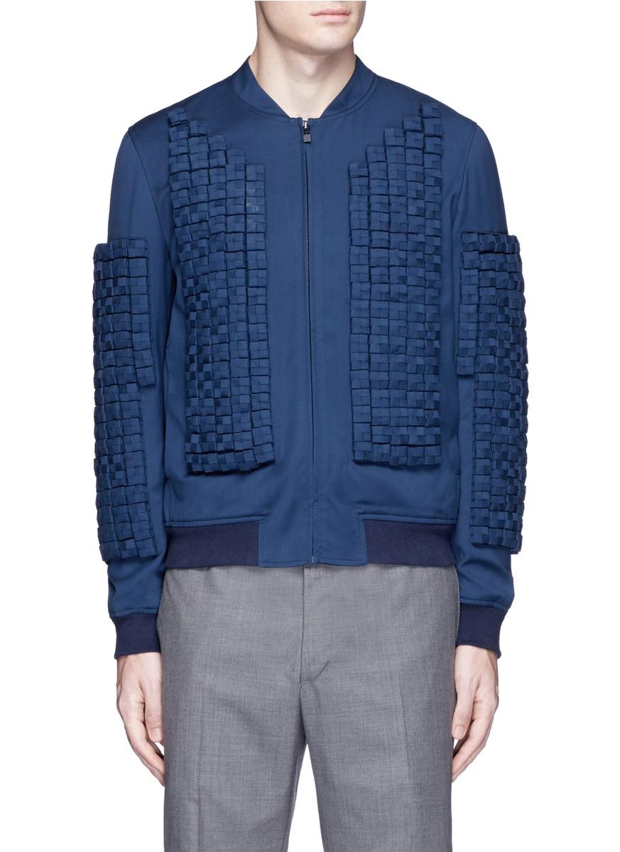 WAN HUNG Woven cube embellished bomber jacket