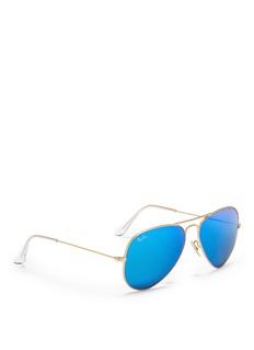 RAY-BAN'Aviator Large Metal' mirror sunglasses