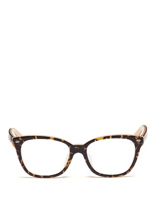 Main View - Click To Enlarge - Ray-Ban - Two tone square cat eye optical glasses