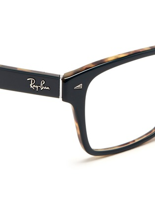 Detail View - Click To Enlarge - Ray-Ban - Two tone square frame acetate optical glasses
