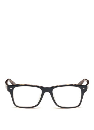 Main View - Click To Enlarge - Ray-Ban - Two tone square frame acetate optical glasses