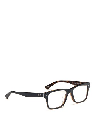 Figure View - Click To Enlarge - Ray-Ban - Two tone square frame acetate optical glasses