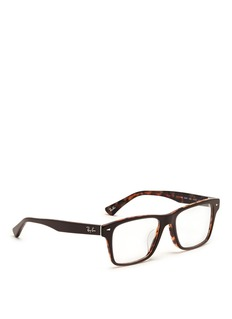 RAY-BAN Two tone square frame acetate optical glasses