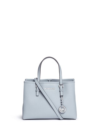Main View - Click To Enlarge - Michael Kors - 'Jet Set Travel' medium saffiano leather east west tote