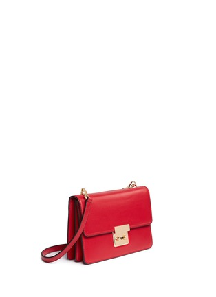 Front View - Click To Enlarge - Michael Kors - 'Sloan' large calf leather crossbody bag
