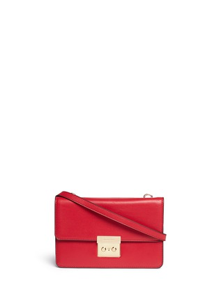 Main View - Click To Enlarge - Michael Kors - 'Sloan' large calf leather crossbody bag