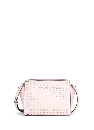 Michael Kors - 'Selma' medium perforated leather messenger bag