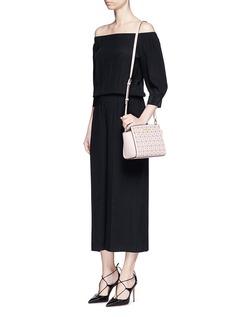 MICHAEL KORS'Selma' medium perforated leather messenger bag