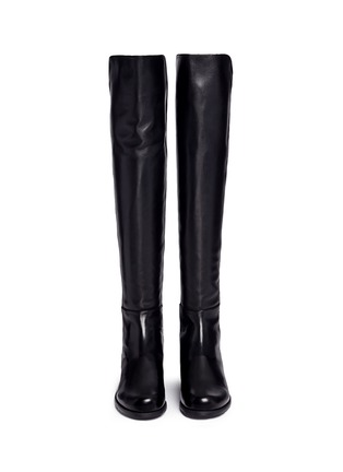 Front View - Click To Enlarge - Stuart Weitzman - '5050' elastic back leather boots