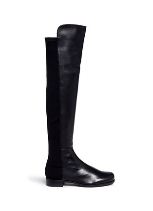 Main View - Click To Enlarge - Stuart Weitzman - '5050' elastic back leather boots
