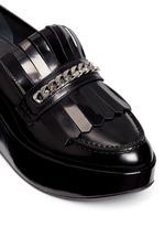 'BMOC' kiltie flap patent leather platform loafers