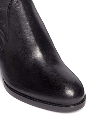 Detail View - Click To Enlarge - Stuart Weitzman - 'Calare' stretch leather boots