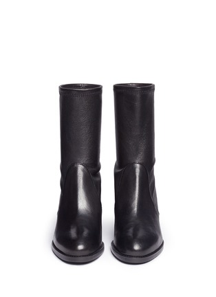 Front View - Click To Enlarge - Stuart Weitzman - 'Calare' stretch leather boots