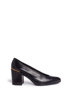 Stuart Weitzman 'Choke Up' chunky heel leather pumps