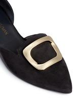 'Dorsini' metal brooch suede d'Orsay flats