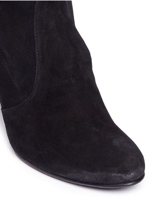 Detail View - Click To Enlarge - Stuart Weitzman - 'Highland' stretch suede thigh high boots