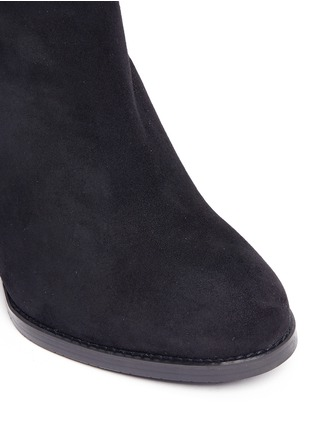 Detail View - Click To Enlarge - Stuart Weitzman - 'Hijack' elastic back suede boots