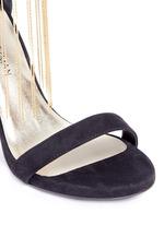 'Link' fringe chain suede sandals