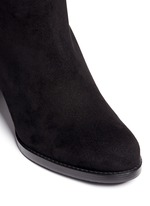 'Lowjack' elastic back suede boots