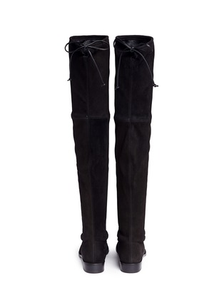 Back View - Click To Enlarge - Stuart Weitzman - 'Lowland' stretch suede thigh high boots