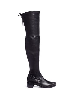 Stuart Weitzman 'Midland' stretch leather thigh high boots