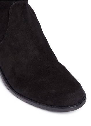 Detail View - Click To Enlarge - Stuart Weitzman - 'Midland' stretch suede thigh high boots