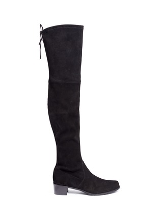 Main View - Click To Enlarge - Stuart Weitzman - 'Midland' stretch suede thigh high boots