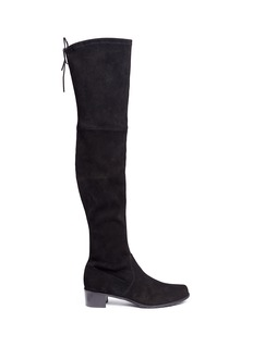 Stuart Weitzman 'Midland' stretch suede thigh high boots