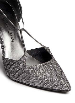 Detail View - Click To Enlarge - Stuart Weitzman - 'On A String' lace-up glitter d'Orsay pumps