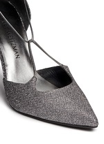 'On A String' lace-up glitter d'Orsay pumps