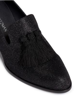 Stuart Weitzman-'Razmataz' tassel glitter mesh loafers