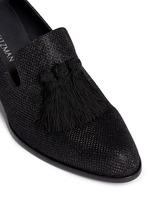 'Razmataz' tassel glitter mesh loafers