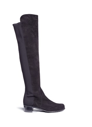 Main View - Click To Enlarge - Stuart Weitzman - 'Reserve' elastic back suede boots