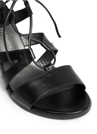 Detail View - Click To Enlarge - Stuart Weitzman - 'The Girl Bingo' lace-up leather sandals