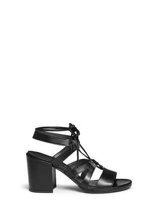 Main View - Click To Enlarge - Stuart Weitzman - 'The Girl Bingo' lace-up leather sandals