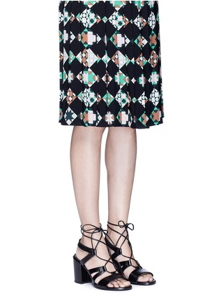 Figure View - Click To Enlarge - Stuart Weitzman - 'The Girl Bingo' lace-up leather sandals