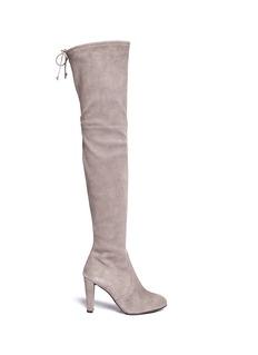 Stuart Weitzman'Highland' stretch suede thigh high boots