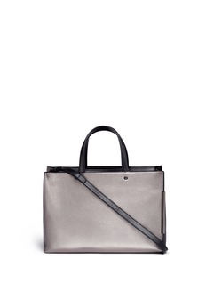 Stuart Weitzman 'Cheltote' metallic leather tote bag