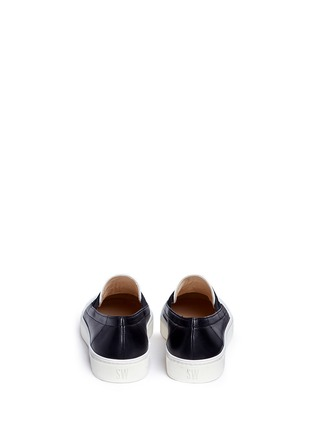 Back View - Click To Enlarge - Stuart Weitzman - 'Flex' elastic strap colourblock leather skate slip-ons