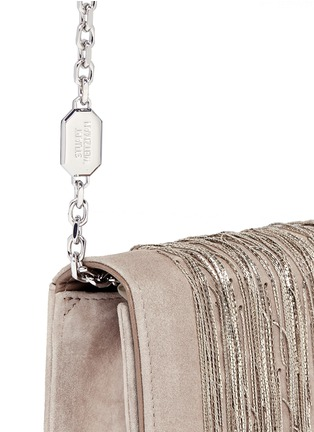 Detail View - Click To Enlarge - Stuart Weitzman - 'Angel Hair' fringe suede chain clutch