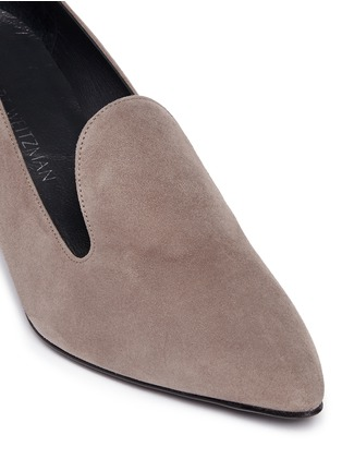 Detail View - Click To Enlarge - Stuart Weitzman - 'Arky Mid' suede loafers