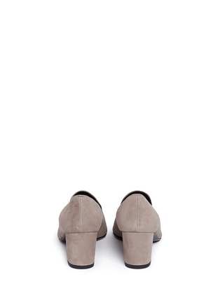 Back View - Click To Enlarge - Stuart Weitzman - 'Arky Mid' suede loafers